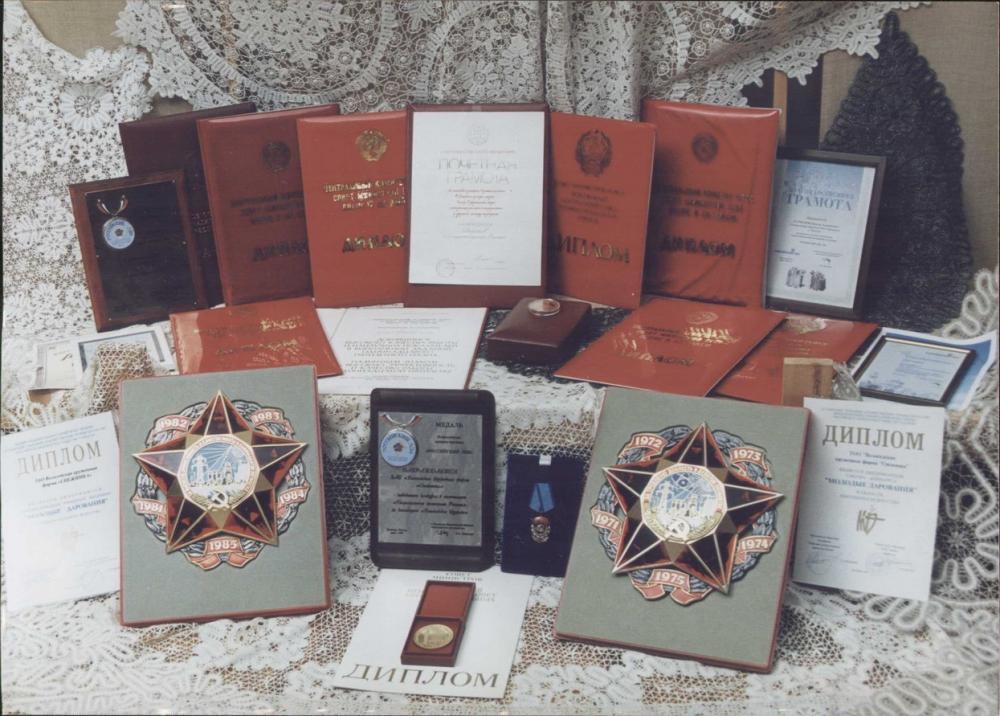 Награды Снежинка Вологодское кружево Дипломы грамоты медали